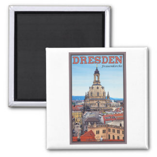 Dresden - Frauenkirche 2 Inch Square Magnet