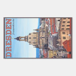 Dresden - Frauenkirche Pegatina Rectangular