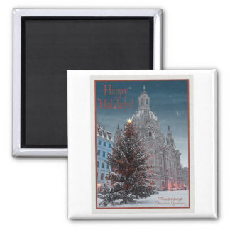 Dresden - Frauenkirche Tannenbaum  - HH WR 2 Inch Square Magnet