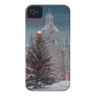 Dresden - Frauenkirche Tannenbaum - WB de la bujía Case-Mate iPhone 4 Coberturas
