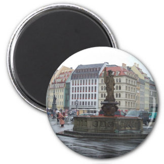 Dresden, Germany 2 Inch Round Magnet