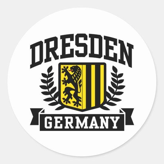 Dresden Germany Classic Round Sticker