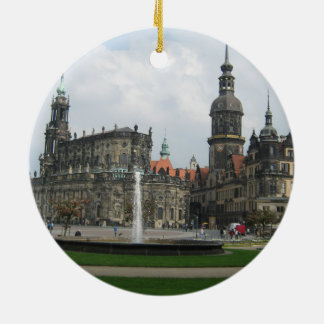 Dresden, Germany Double-Sided Ceramic Round Christmas Ornament
