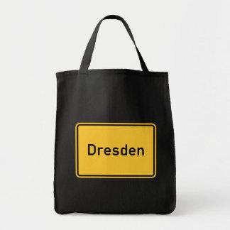 Dresden, Germany Road Sign Bag