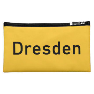 Dresden, Germany Road Sign Cosmetic Bag