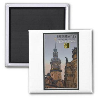 Dresden - Hausmannsturm 2 Inch Square Magnet