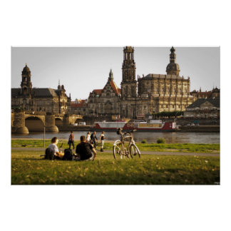 Dresden on the Elbe Poster