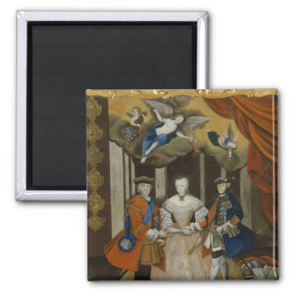 Dresden Peace Allegory, 1745 2 Inch Square Magnet