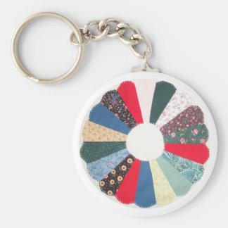 Dresden Plate Quilt Keychain