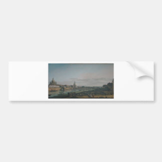 Dresden seen from right bank of the Elbe Bumper Sticker