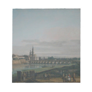 Dresden seen from right bank of the Elbe Note Pad