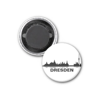 Dresden skyline refrigerator magnet