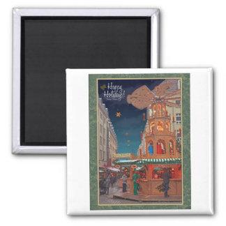 Dresden - Weihnachtspyramide - HH G 2 Inch Square Magnet
