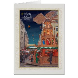 Dresden - Weihnachtspyramide - HH W Tarjeta De Felicitación