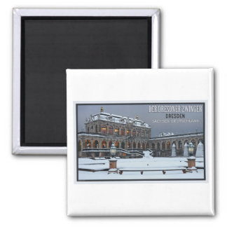 Dresden - Zwinger Palace Winter LS 2 Inch Square Magnet