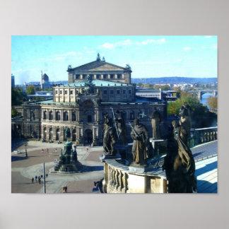 Dresdener Opernhaus am Zwinger Print