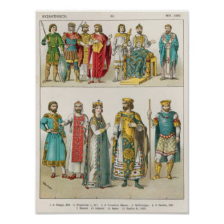 Dress at the Byzantine Court Poster