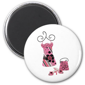 DRess Bag and Shoes in Pink Magnet