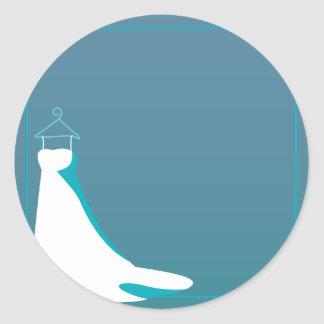 Dress: Beautify wedding aqua Classic Round Sticker
