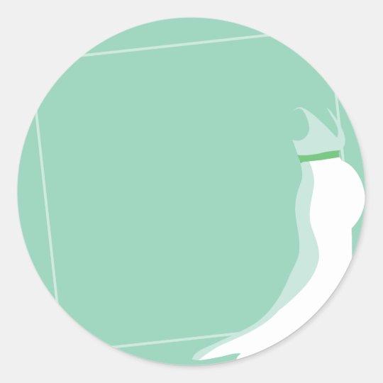 Dress: Bonny green wedding pregnant Classic Round Sticker