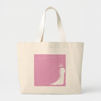 Dress: Bonny pregnant lady marriage in pink Large Tote Bag