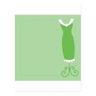 Dress: Classy in green Postcard