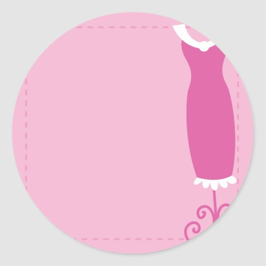 Dress: Classy wedding in pink Classic Round Sticker