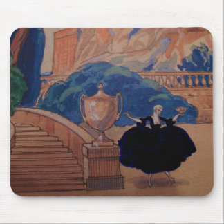 Dress Fashion Plate Vintage French Deco Mouse Pad
