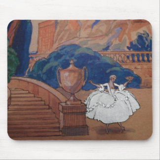 Dress Fashion Plate Vintage French Deco Mousepad