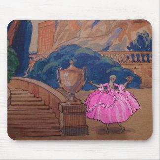 Dress Fashion Plate Vintage French Deco Mousepads