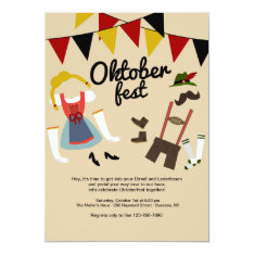 Dress For Oktoberfest Invitation at Zazzle