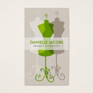 Dress Form Alteration & Fashion Design Card green