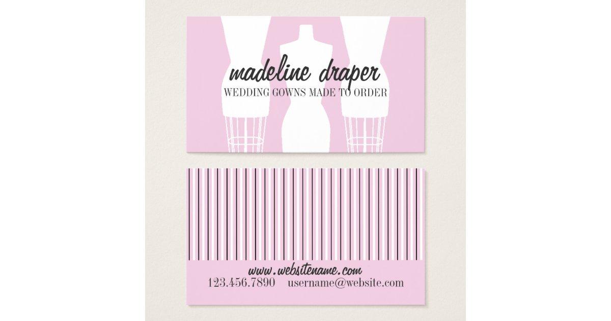 Dress Designer Business Cards Templates – Wedding Dress Template for Cards