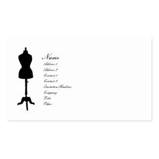 Dress Form II Silhouette v. 2 Double-Sided Standard Business Cards (Pack Of 100)