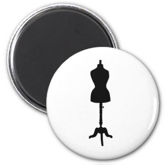 Dress Form Silhouette II 2 Inch Round Magnet