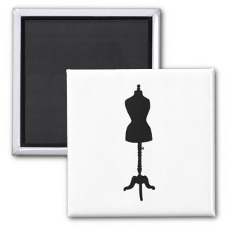 Dress Form Silhouette II 2 Inch Square Magnet