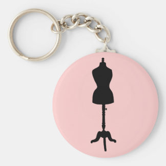 Dress Form Silhouette II Keychain