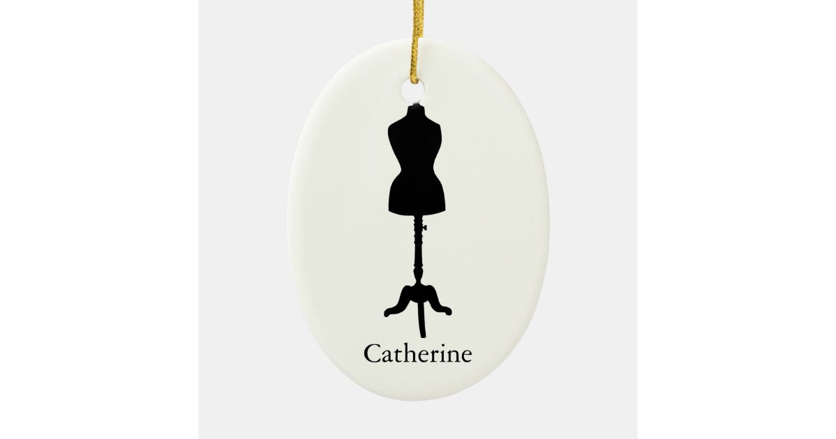 Dress form silhouette ii personalize it ceramic ornament for Home decor 43068