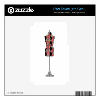 DRESS FORM SKIN FOR iPod TOUCH 4G