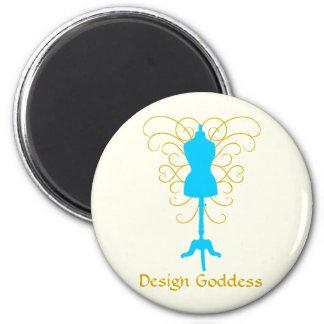 Dress Form with Swirls - Design Goddess 2 Inch Round Magnet