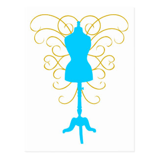 Dress Form with Swirls - Design Goddess Post Cards