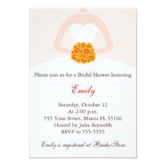 Dress Invitation Fall Bridal Shower