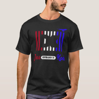 Dress Kode red white and blue graphic t