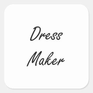 Dress Maker Artistic Job Design Square Sticker