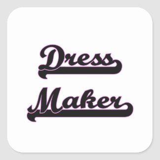 Dress Maker Classic Job Design Square Sticker
