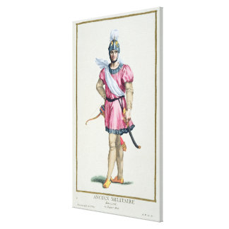 Dress of a Norman Soldier from 'Receuil des Estamp Canvas Print