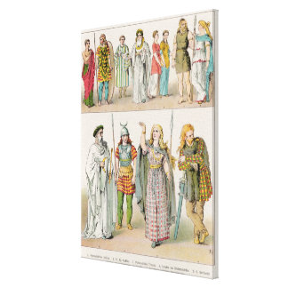 Dress of the Britons, Gauls and Germans Canvas Print