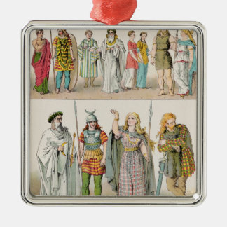 Dress of the Britons, Gauls and Germans Metal Ornament