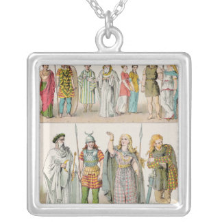 Dress of the Britons, Gauls and Germans Silver Plated Necklace