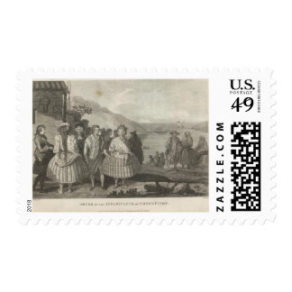 Dress of the Inhabitants of Conception Postage